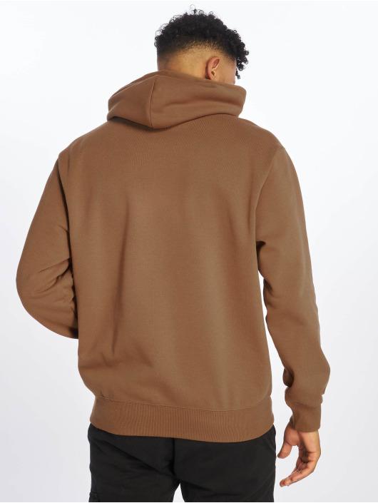 Carhartt WIP Zip Hoodie Label hnědý