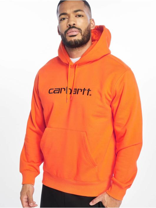 Carhartt WIP Zip Hoodie Label oranžová