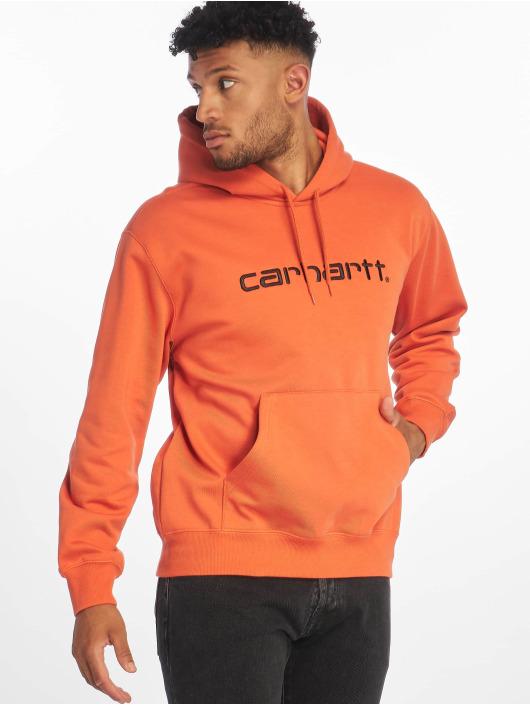 Carhartt WIP Zip Hoodie Label oranžový