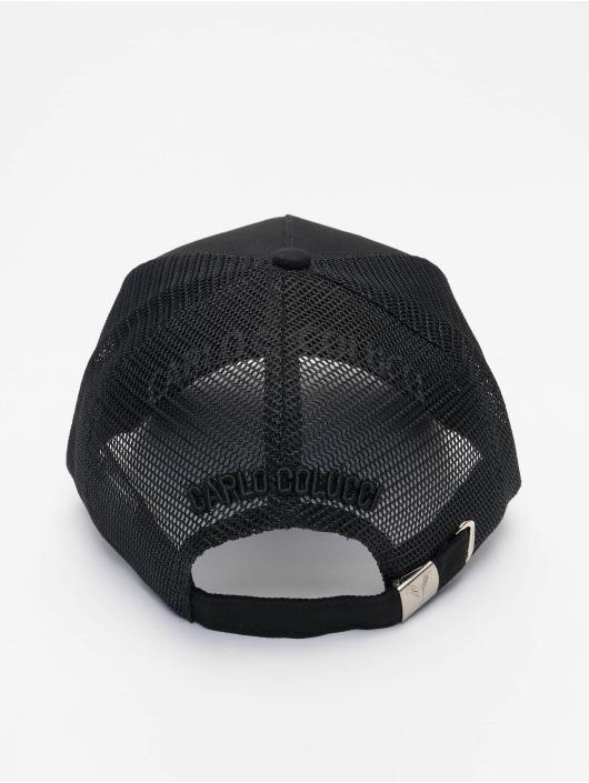 Carlo Colucci Casquette Trucker mesh Logo noir