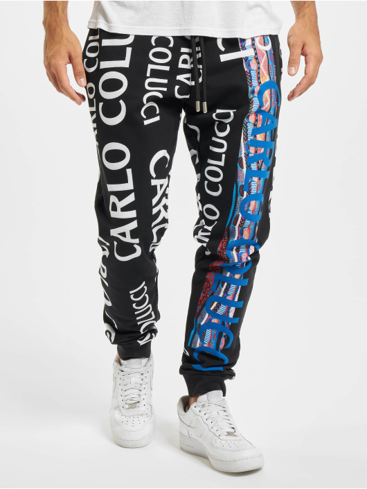 Carlo Colucci Pantalone ginnico Sweat nero