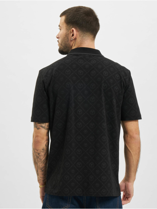 Carlo Colucci Poloshirt Polo schwarz