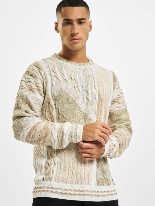 Carlo Colucci Pullover Jacquard white