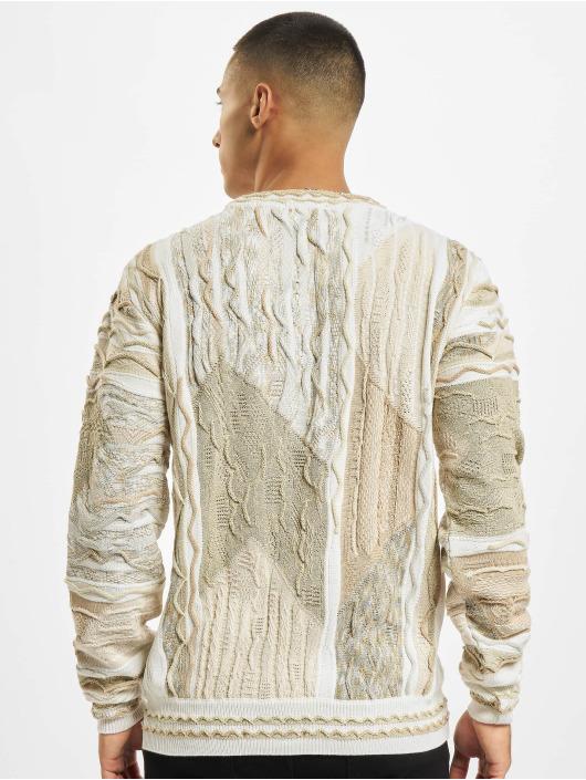 Carlo Colucci Sweat & Pull Jacquard blanc