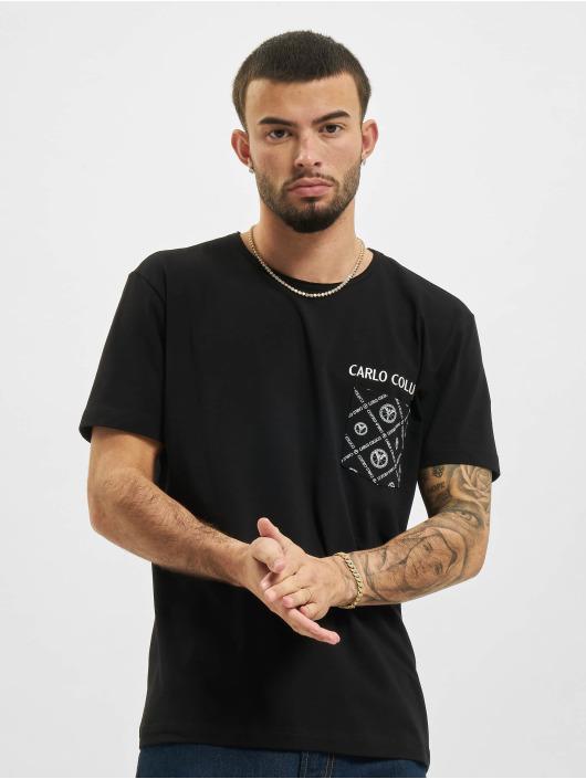 Carlo Colucci T-Shirt Pocket black