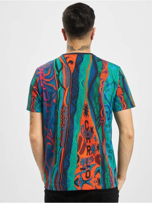 Carlo Colucci T-Shirt Retro blau