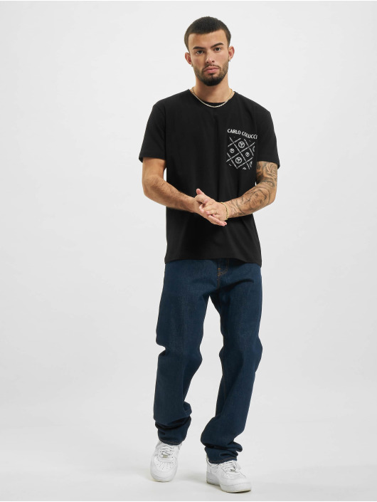 Carlo Colucci T-Shirt Pocket noir