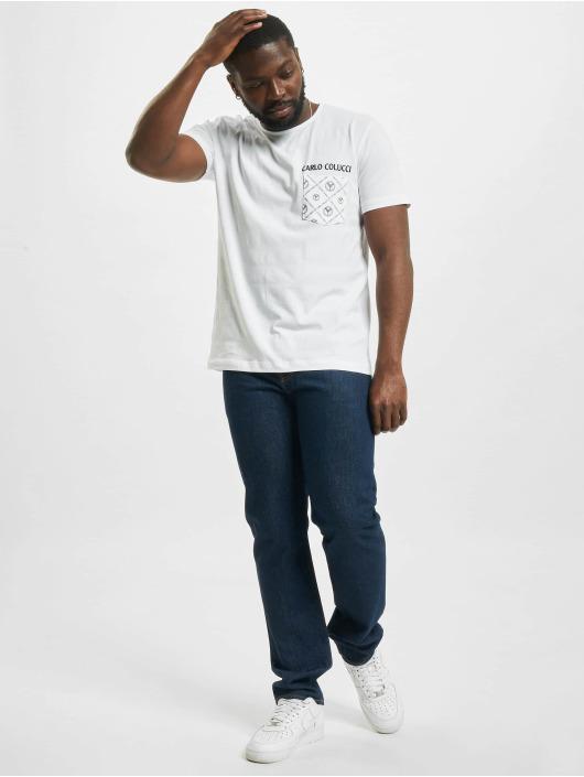 Carlo Colucci T-Shirt Pocket weiß