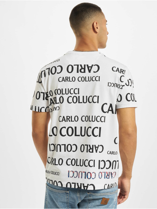 Carlo Colucci T-Shirt Lettering weiß