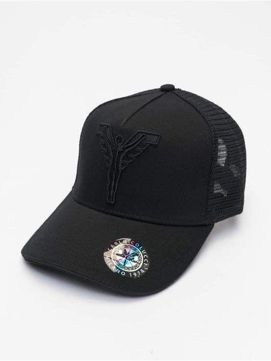 Carlo Colucci Trucker Cap Logo schwarz