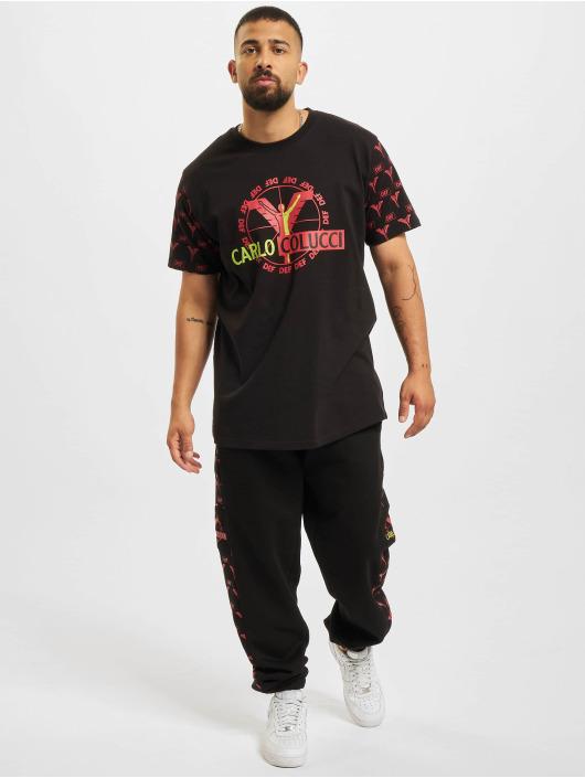 Carlo Colucci x DEF Jogginghose Logo schwarz