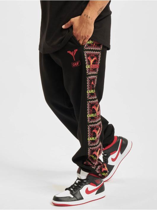 Carlo Colucci x DEF Spodnie do joggingu Logo II czarny