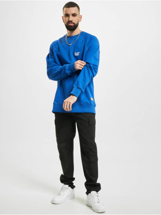 Caterpillar Pullover Small Logo Roundneck blau