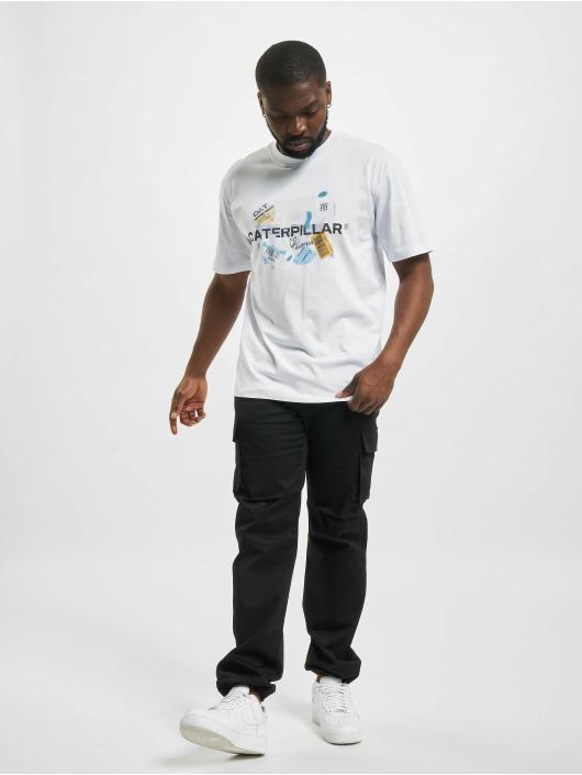Caterpillar T-Shirt Power blanc