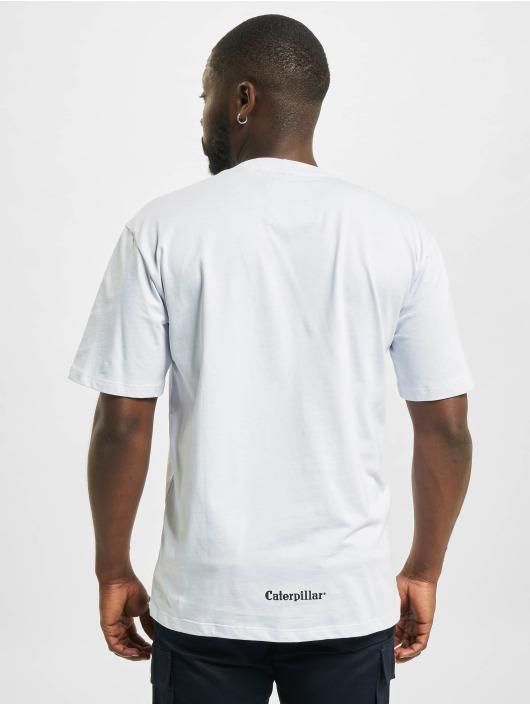 Caterpillar T-Shirt Machinery blanc