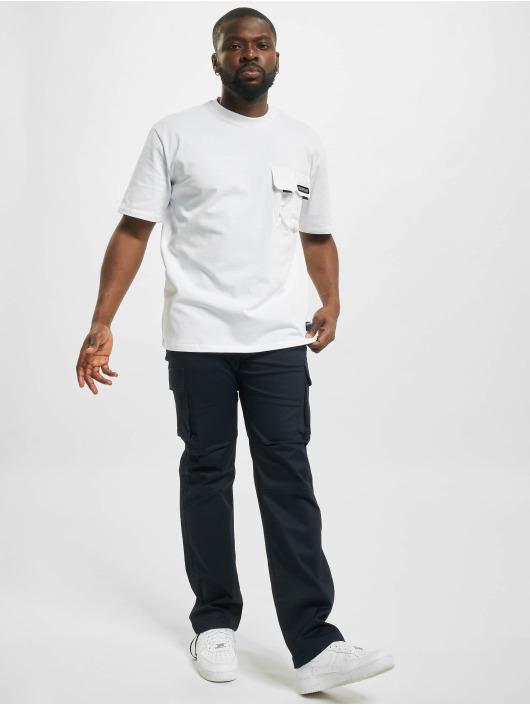 Caterpillar T-Shirt Double Pocket blanc