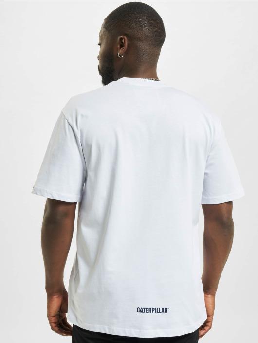 Caterpillar T-Shirt Wheels Print blanc