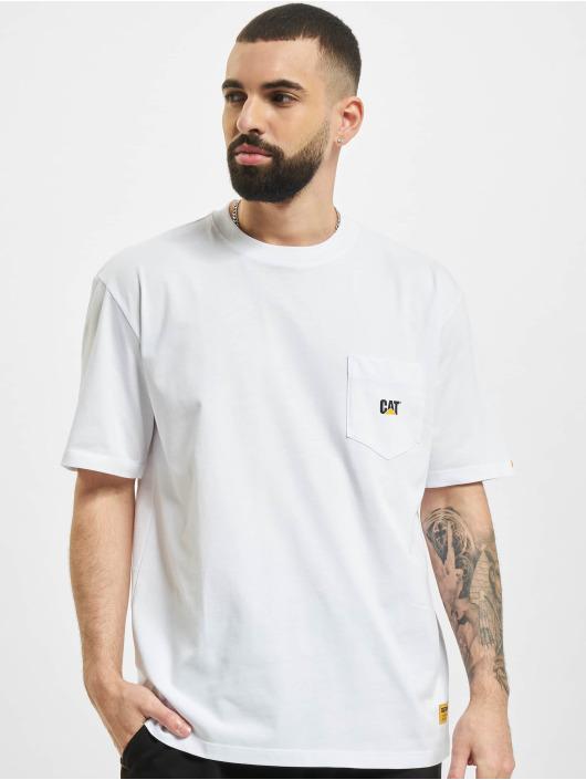 Caterpillar T-Shirt Pocket blanc