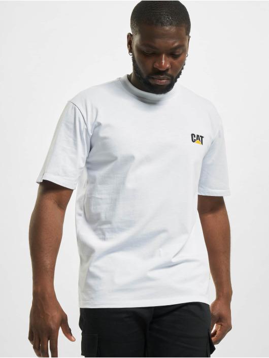 Caterpillar T-Shirt Small Logo blanc