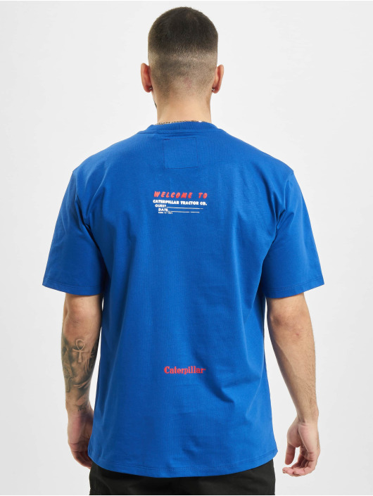 Caterpillar T-Shirt Vintage Print blau