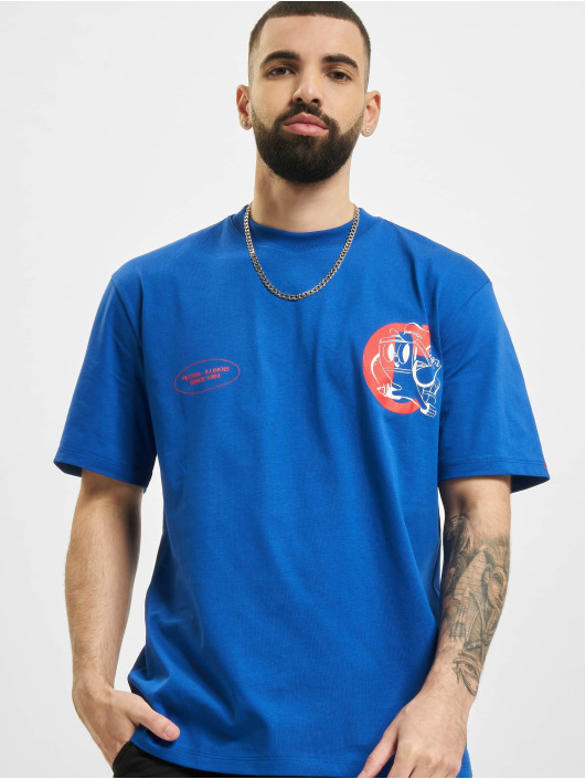 Caterpillar T-Shirt Vintage Print bleu