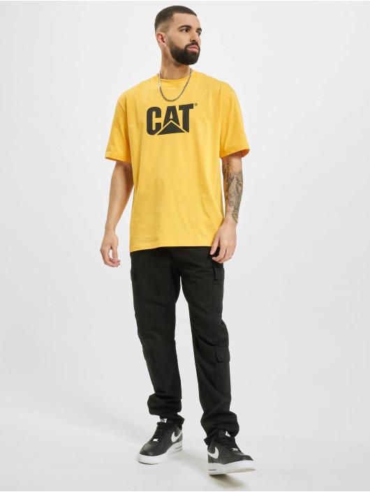 Caterpillar T-Shirt Wheels Print gelb