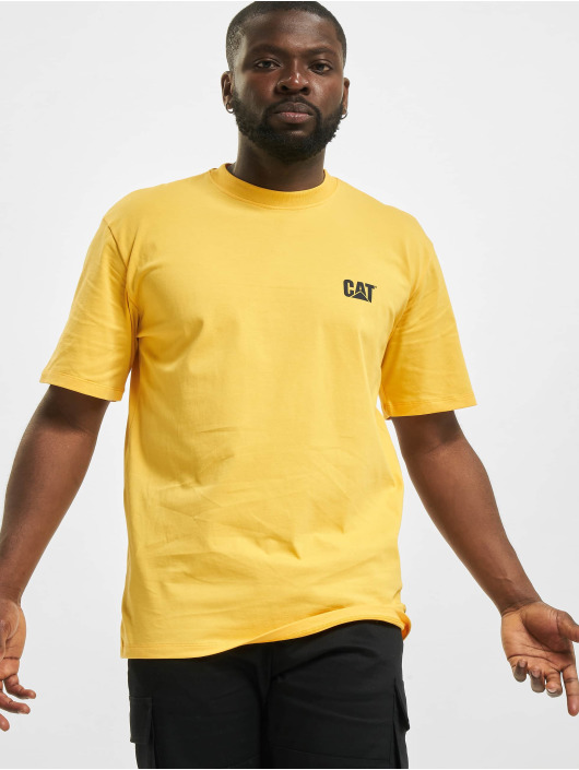 Caterpillar T-Shirt Small Logo gelb