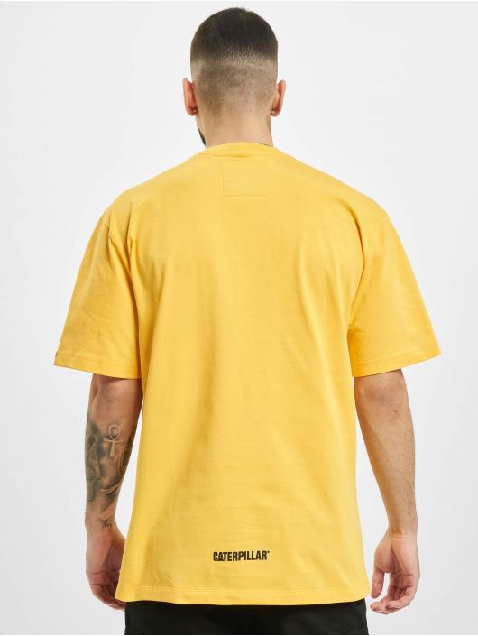 Caterpillar T-Shirt Wheels Print jaune
