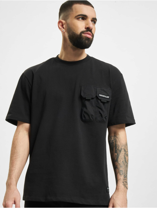Caterpillar T-Shirt Double Pocket schwarz