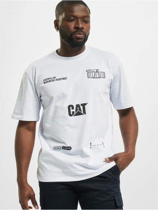 Caterpillar T-Shirt Machinery white