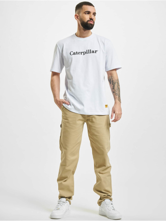 Caterpillar T-Shirty Classic bialy