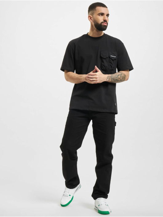 Caterpillar T-Shirty Double Pocket czarny