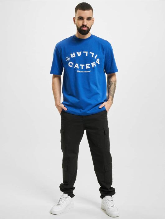 Caterpillar T-Shirty Vintage Workwear niebieski