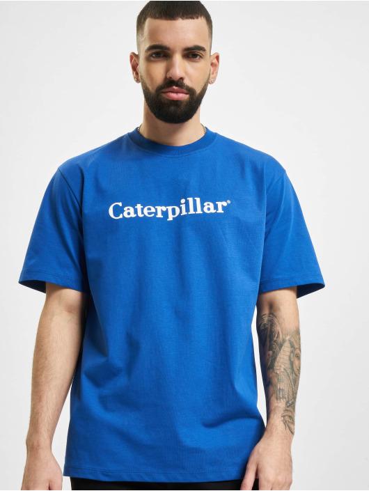 Caterpillar T-Shirty Classic niebieski