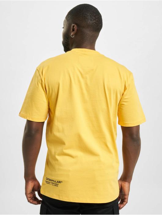 Caterpillar T-Shirty Vintage Workwear zólty