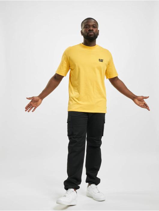 Caterpillar T-Shirty Small Logo zólty