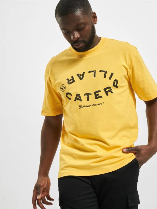 Caterpillar Tričká Vintage Workwear žltá