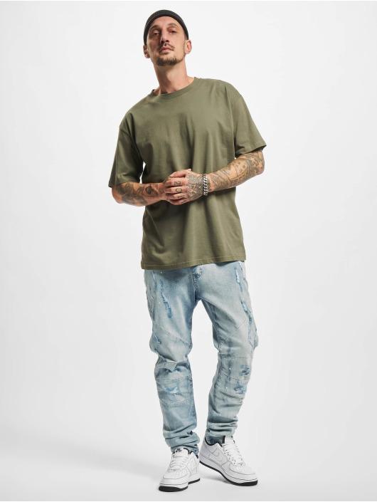 Cayler & Sons Slim Fit Jeans Paneled Denim Pants blå