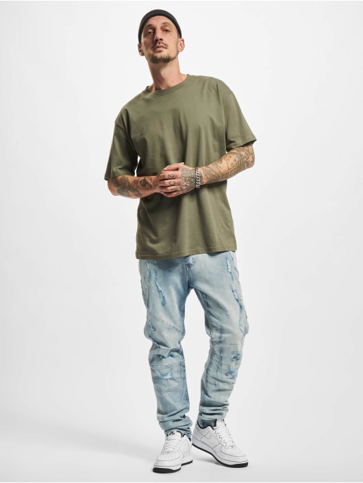 Cayler & Sons Slim Fit Jeans Paneled Denim Pants blue