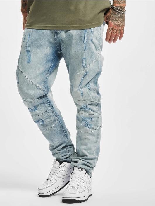 Cayler & Sons Slim Fit Jeans Paneled Denim Pants modrý
