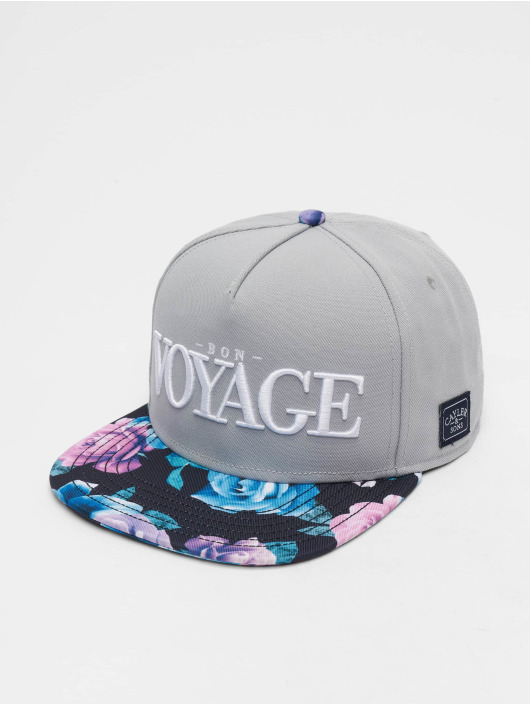 Cayler & Sons Snapback Cap Bon Voyage grau