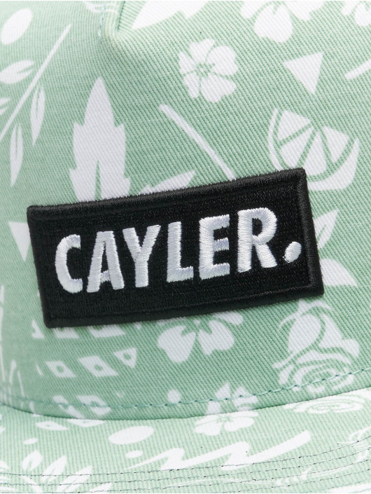 Cayler & Sons Snapback Cap WL Statement Leaves N Wires green