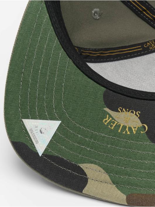 Cayler & Sons Snapback Caps WI 2pac Rollin oliwkowy