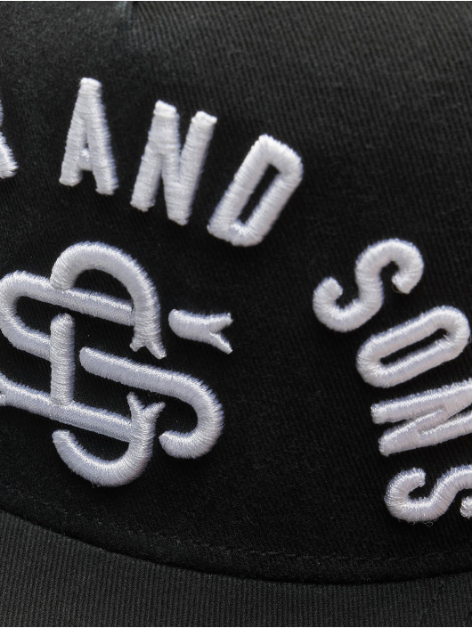 Cayler & Sons Snapback Caps Raw Pleasures svart