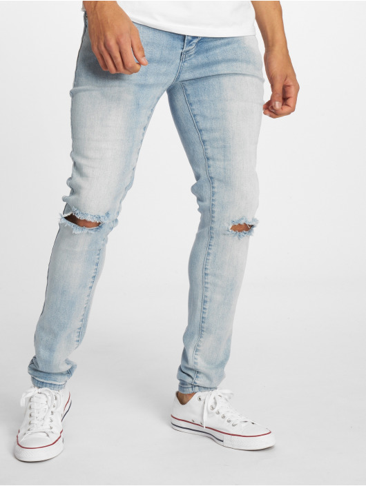 Cayler & Sons Straight Fit Jeans Alldd Team Ren blau