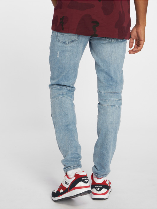 Cayler & Sons Straight Fit Jeans Alldd Paneled Inverted Ian blau