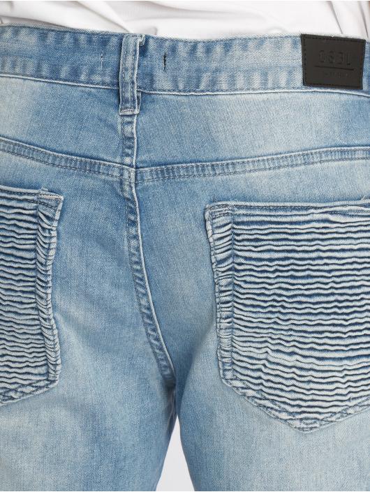 Cayler & Sons Straight Fit Jeans Biker Distressed blue