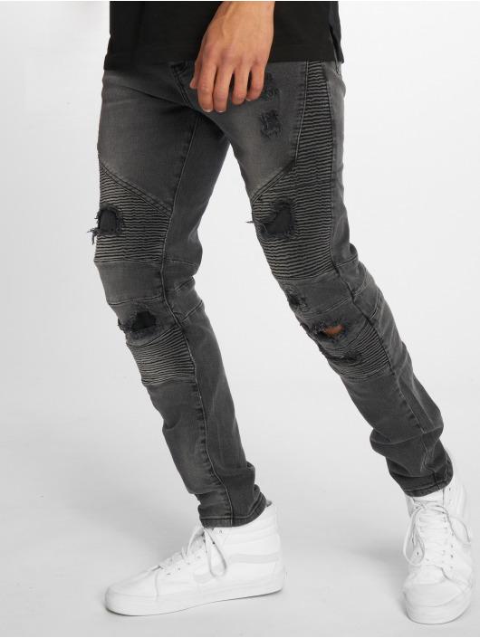 Cayler & Sons Straight Fit Jeans Alldd Broken Biker Ian schwarz