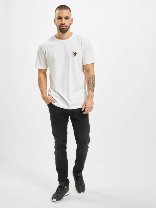 Cayler & Sons T-Shirty WL 2Pac Lines bialy