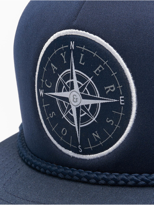 Cayler & Sons Trucker Caps Navigating Foam niebieski